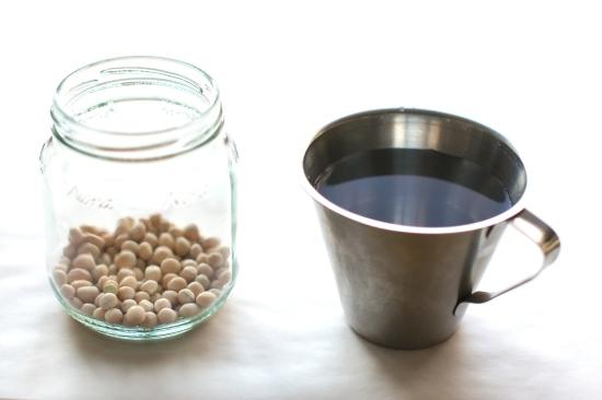Steg 1: Vann og tørkede erter